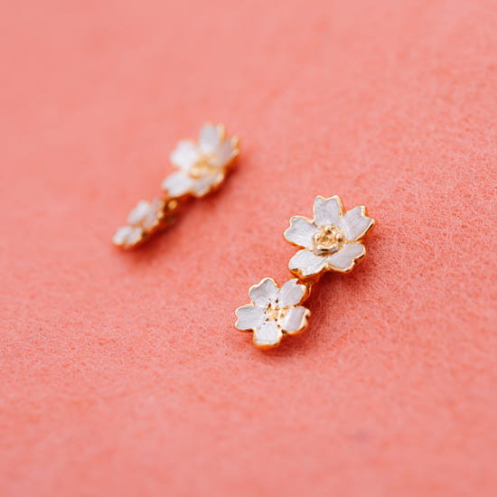 Sakura Cherry Blossom Earrings Pierce Post Type Only Atelier Shinji Ginza