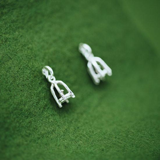 Bird S Cage Mini Earrings Pierce Post Type Only